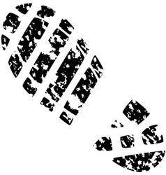 foot print vector image