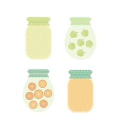 Jam in jars vector