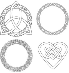 4 celtic patterns vector