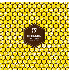 abstract hexagons pattern on brush hand draw vector image