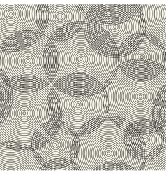 Abstract seamless pattern of rings vector