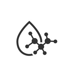 Acid molecule icon in flat style dna on white vector