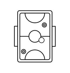 air hockey design vector image