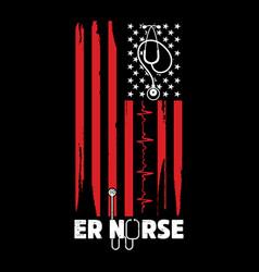American flag nurse t shirt design vector