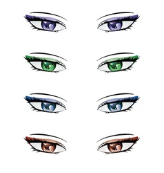 Anime style eyes2 vector image