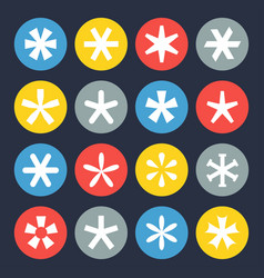 asterisk symbol set vector image