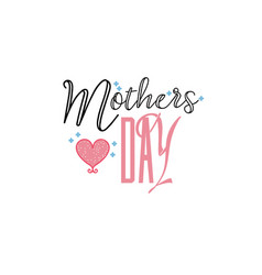 badge as part of the design - mothers day sticker vector image