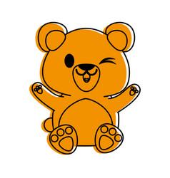 Bear or cub cute animal cartoon icon image vector