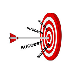 Business success archery arrow to target vector
