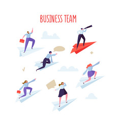 Business team concept business people flying vector
