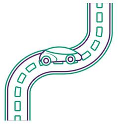 Car road street highway direction plan vector