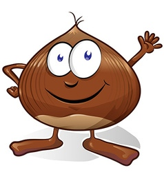 chestnut cartoon vector image