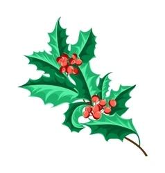 Christmas holly berry set vector