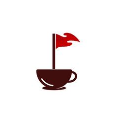 coffee golf logo icon design vector image