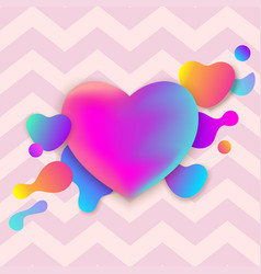 colorful abstract neon gradient heart vector image