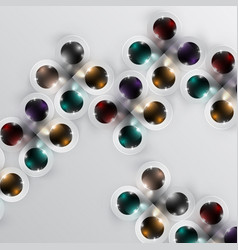 colorful spheres background vector image