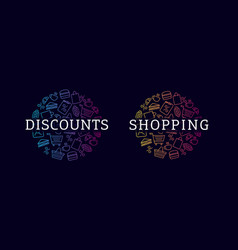 discounts concept extured circles with pattern of vector image