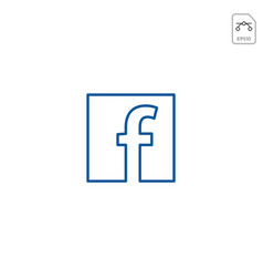 facebook icon or logo symbol element isolated vector image