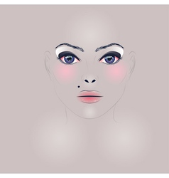 Fashion Girl Face vector image