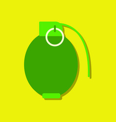 Flat icon design collection military hand grenade vector