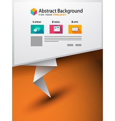 Flyer Design Brochure Layout orTechnology vector