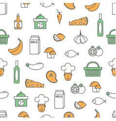 food background flat line art seamless vector image