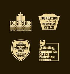Foundation christian church vector