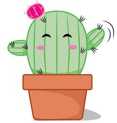Friendly baby cactus vector