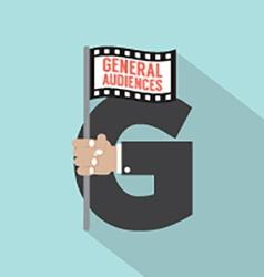 General Audiences Symbol-American Film Rating vector