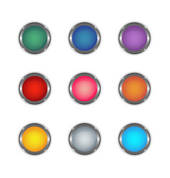 glossy button set 3 vector image