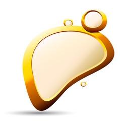 Golden pebble background vector
