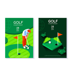 Golf club poster template vector