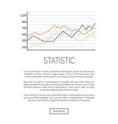Growing flowchart data information web poster vector