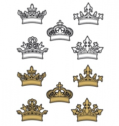 Heraldic crowns vector