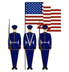 Honor guard in united states-1 vector