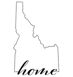 idaho state map outline with word home vector image