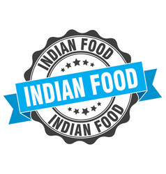 indian food stamp sign seal vector image