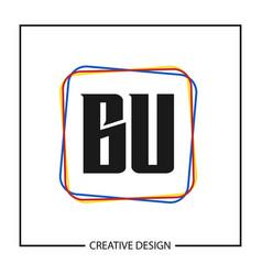 Initial letter bu logo template design vector