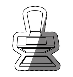 Isolated rubber stamp design vector image