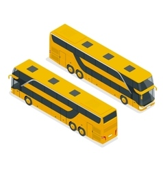 Isometric Double Decker Bus or intercity Urban vector image