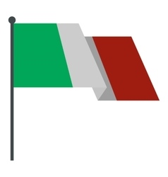 Italian flag icon flat style vector image