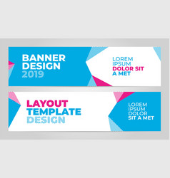 layout banner template design for winter sport vector image
