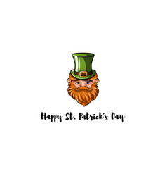 leprechaun in hat vector image