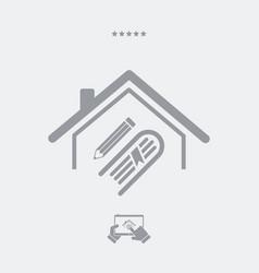 library or school concept - web icon vector image