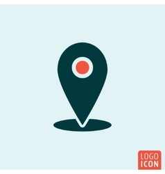 Location mark icon vector