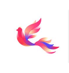 logo a bird a fabulous bird image in a flat vector image