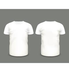 Mens white t-shirt short sleeve vector image