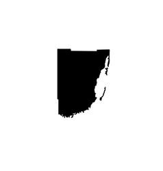 Miami map city shape vector
