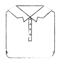 Monochrome blurred silhouette of men polo shirt vector