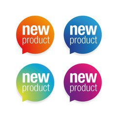 New product label tag vector